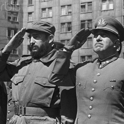 Castro e Pinochet, Santiago de Chile, novembre 1971
