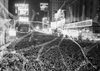 Celebrazioni per Capodanno 1955 in Times Square