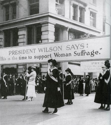 Nel 1918 le donne hanno guadagnato il sostegno del presidente Wilson per il loro diritto di voto