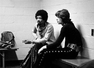 Jimi Hendrix e Mick Jagger a New York 1969