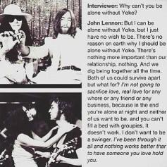 John Lennon spiega il suo rapporto con Yoko