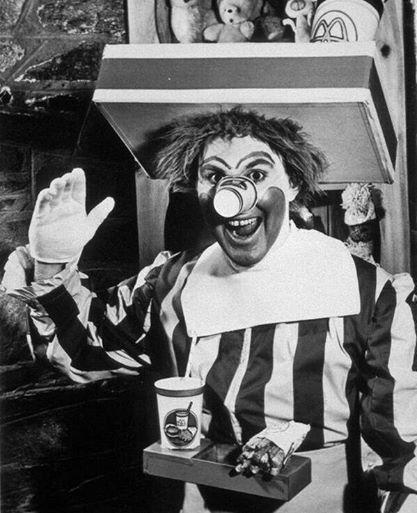 Ronald il pagliaccio originale di McDonald's 1963