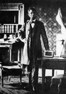 Il presidente Lincoln nel suo ufficio della Casa Bianca 1864