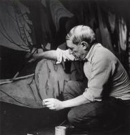 Rara foto di Picasso al lavoro su ''Guernica''. 1937