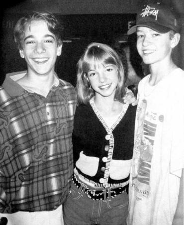T.J. Fantini, Britney Spears e Justin Timberlake quando erano in The Mickey Mouse Club