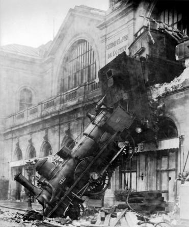 Il relitto di un treno a Montparnasse, 22 ottobre 1895
