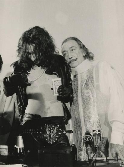 Alice Cooper e Salvador Dalì, New York, 1973