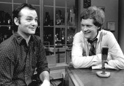 Bill Murray, durante la sua intervista come primo ospite del David Letterman Show, 1983