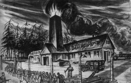 David Olère - Colonne di gassazione nel Crematorio II