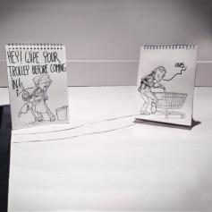 Cartoon Bombing by David Troquier