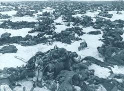 Soldati tedeschi morti nella battaglia di Stalingrado. 1943