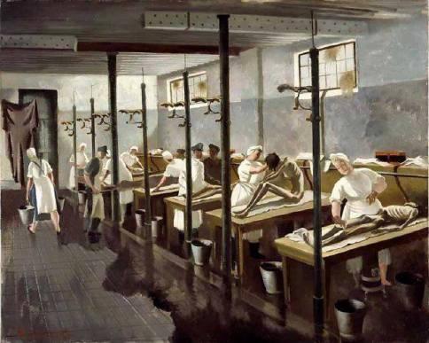 Doris Zinkeisen - Human Laundry (Belsen)