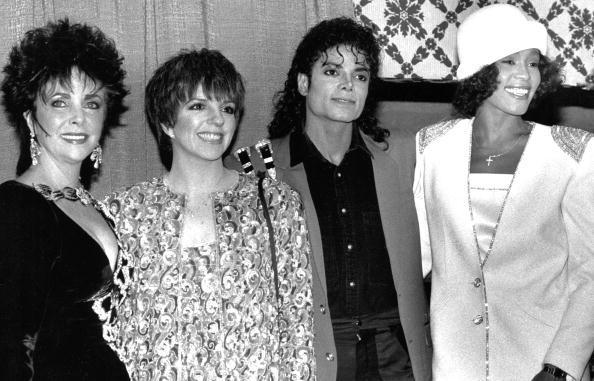 Elizabeth Taylor, Liza Minelli, Michael Jackson e Whitney Houston