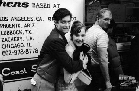 Eric Stoltz come Marty McFly in 'Ritorno al Futuro' prima di essere sostituito pochi giorni dopo con Michael J. Fox