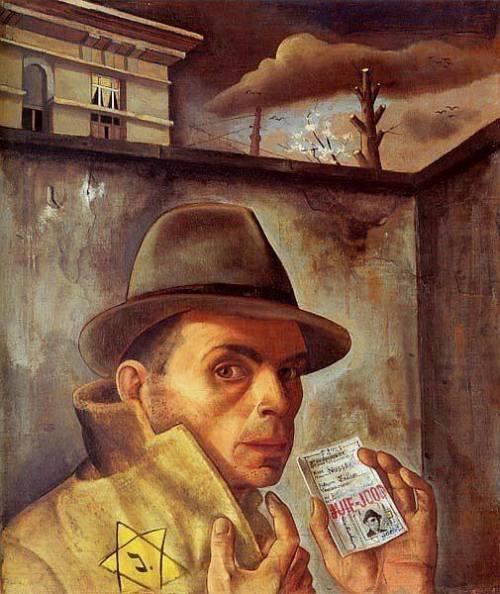 Felix Nussbaum - Self-Portrait with Jewish Identity Card (1943)