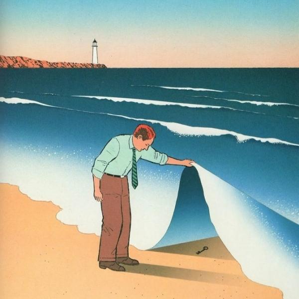 Illustrazionedell'artista franceseGuy Billout