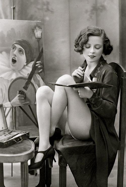 L'artiste, cartolina francese circa 1925