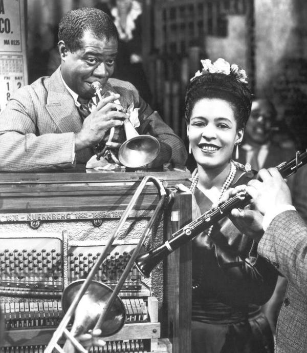 Louis Armstrong e Billie Holiday, 1947
