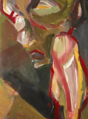 Lucia Ghirardi Olocausto, Figura umana. Acrilico su tela 70x100cm, 2011
