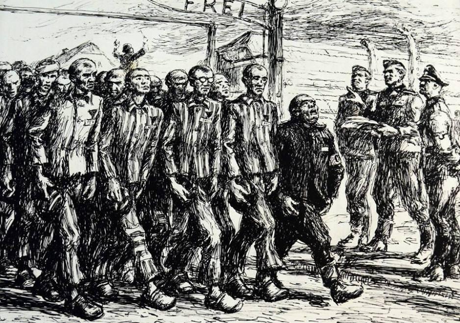 Mieczyslaw Koscielniak - Ingresso del concentramento di Auschwitz