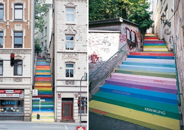 """The Holsteiner Stairs"" nella città di Wuppertal"