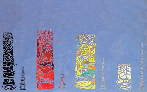 "Ursus Wehrli - Wassily Kandinsky ""Sky Blue"""
