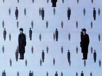 "Ursus Wehrli - René Magritte ""Golconda"""
