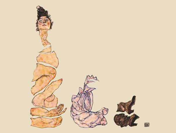 "Ursus Wehrli - Egon Schiele ""Reclining Female Nude"""