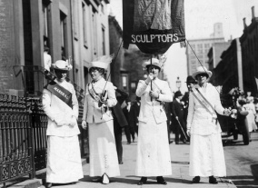 1916, Marcia di suffragette a New York. Foto GettyImages