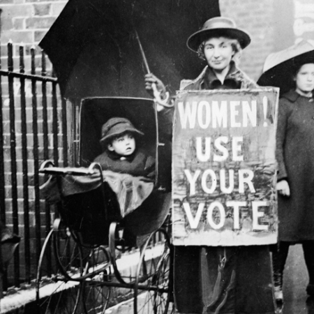 1920 Una suffragetta americana. Foto GettyImages