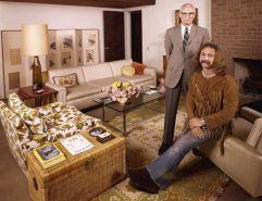 David Crosby con suo padre, 1970.