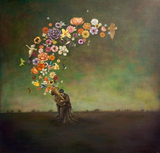 Opera dell'artista statunitense Duy Huynh