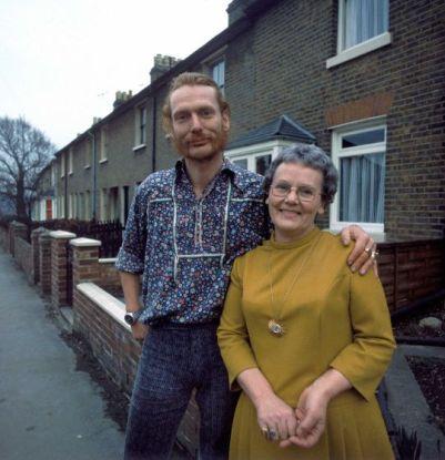 Ginger Baker e sua mamma, 1970.