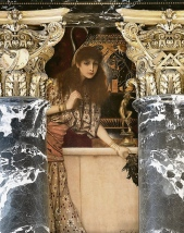 Gustav Klimt - Ancient Greece (The Girl from Tanagra) - Mural painting in the Kunsthistorisches Museum, Vienn, 1890