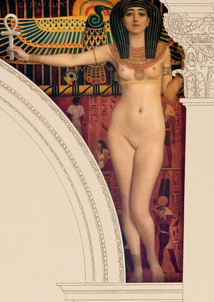 Gustav Klimt - Egyptian Art - Mural painting in the Kunsthistorisches Museum, Vienna, 1890