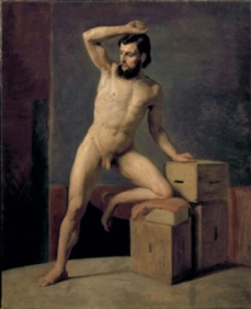 Gustav Klimt - Male nude, 1880