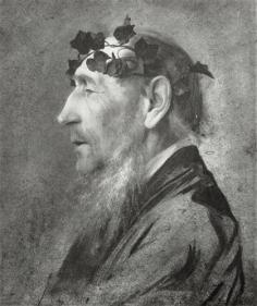 Gustav Klimt - Old man with ivy wreath, 1883