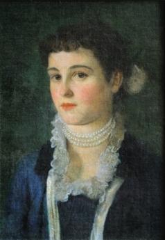 Gustav Klimt - Portrait of Clara Klimt, 1883