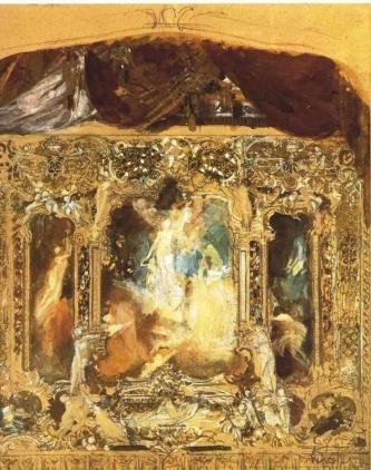 Gustav Klimt - Sketch for a theater curtain in Reichenberg (Liberec), 1883