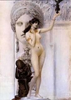 Gustav Klimt - The Allegory of sculpture, 1889