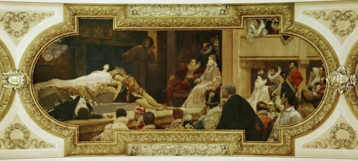 Gustav Klimt - Theatre of Shakespeare - Ceiling painting in the Burgtheater in Vienna, 1886