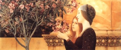 Gustav Klimt - Two Girls with Oleander, 1890