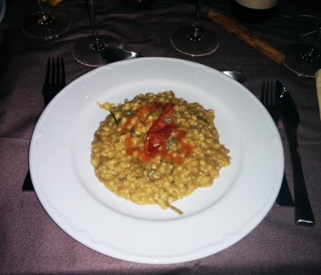 Home social restaurant Cagliari - fregola carciofi e bottarga