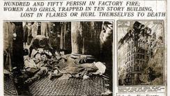 L'incendio della fabbrica di Triangle sui giornali newyorkesi
