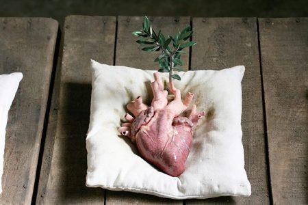 """""""Cuore con ulivo"""" dell'artista italiano Marcantonio Raimondi Malerba"""