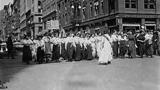 Scioperi e manifestazioni femminili nella New York di inizio secolo