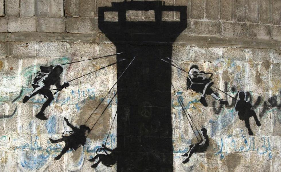 Le nuove opere di Banksy a Gaza