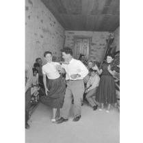 Carlo Bavagnoli - Costantino Nivola alla festa in occasione della mostra ad Orani, marzo 1958