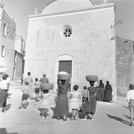 Carlo Bavagnoli - Facciata della chiesa della Madonna d'Itria, Orani 1958