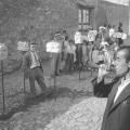 """Carlo Bavagnoli – Su """"bandidore"""" annuncia la mostra di Costantino Nivola, Orani, marzo 1958"""